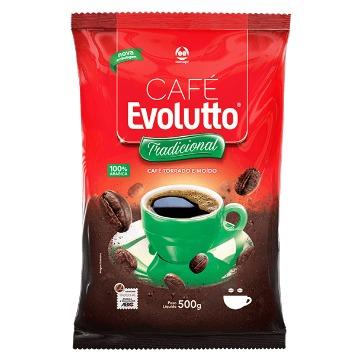 CAFÉ TORRADO E MOÍDO 100% ARÁBICA EVOLUTTO TRADICIONAL 500 G