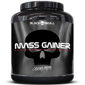 MASS GAINER - 3Kg - Chocolate - Caveira Preta - Black Skull