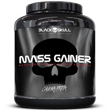 MASS GAINER - 3Kg - Morango - Caveira Preta - Black Skull
