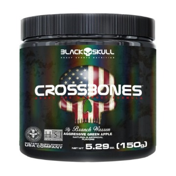 CROSSBONES - 150g - Aggressive Green Apple (maça verde) - Black Skull