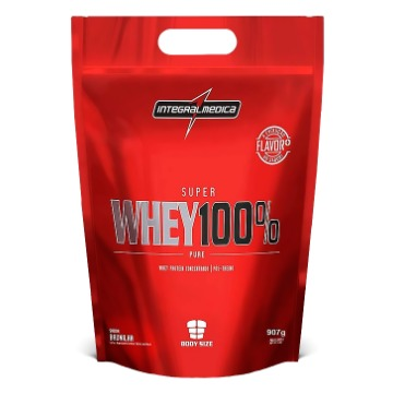 Super Whey 100% Refil - 900g - Morango - IntegralMedica