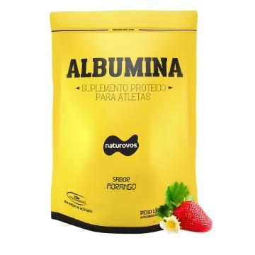 Albumina - 500g - Morango - Naturovos