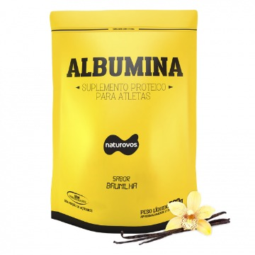 Albumina - 500g - Baunilha - Naturovos