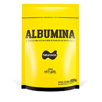 Albumina - 500g - Natural (Sem Sabor) - Naturovos