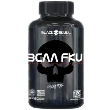 BCAA FKU - 120Tabs - Caveira Preta - Black Skull