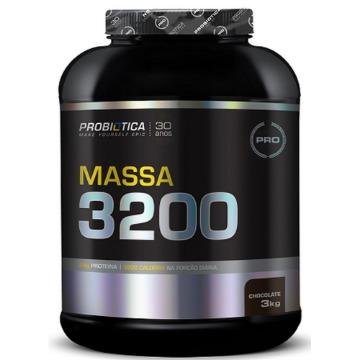 MASSA 3200 Anticatabolic - 3Kg - Morango - Probiotica