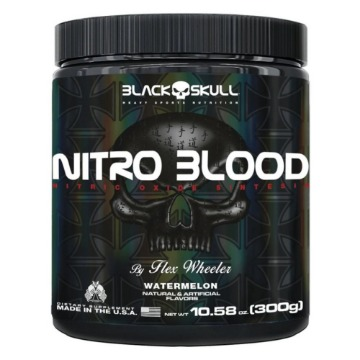 NITRO BLOOD - 300g - Wild Strawberry - Black Skull