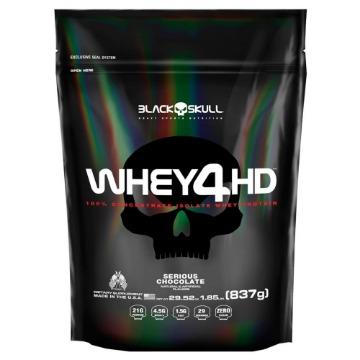 Whey 4HD Refil - 837g - Chocolate - Black Skull