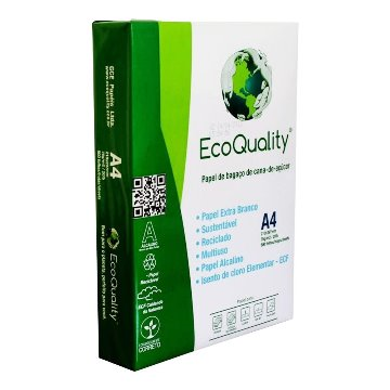 PAPEL ECOQUALITY A4 75G EXTRA BRANCO