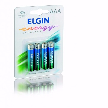 Pilha Alcalina AAA Palito C/4 - ELGIN