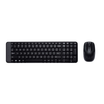 Teclado e Mouse Logitech Wireless MK220 Preto