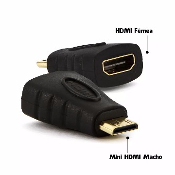ADAPTADOR HDMI MINI Macho / HDMI Fêmea