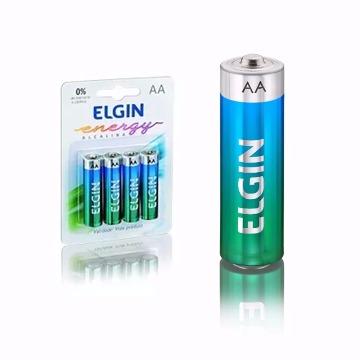 Pilha Alcalina Elgin AA Pequena c/4 Un