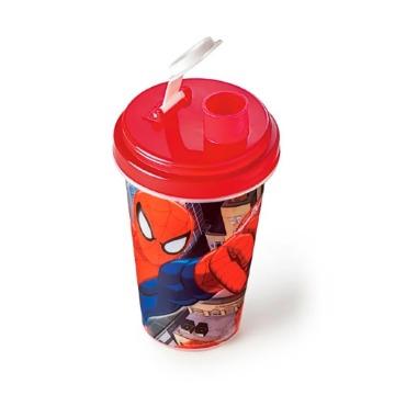 Garrafa com Copo Spider-Man 320ml