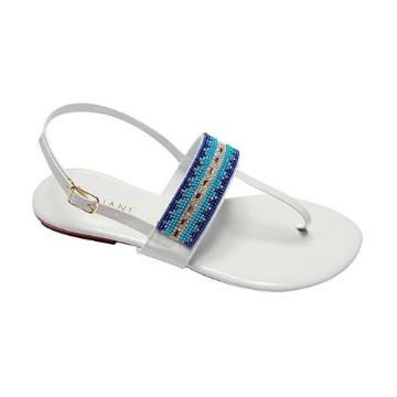 Sandália Fashion Verniz Branca