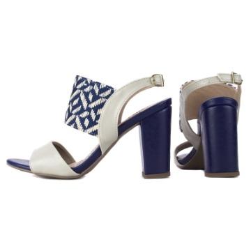 Sandália Azul e Bege 027-02