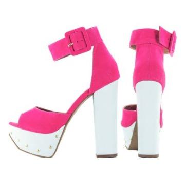 Sandália Meia Pata Pink e Branca 80.132
