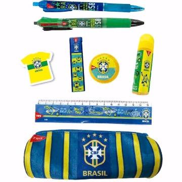 Kit Escolar Tris CBF 8 Peças