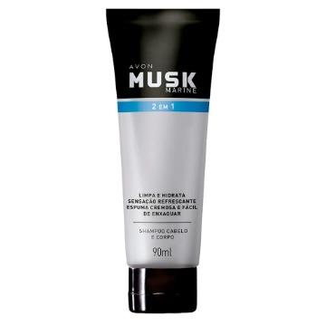 Musk Marine Shampoo Cabelo e Corpo 90ml