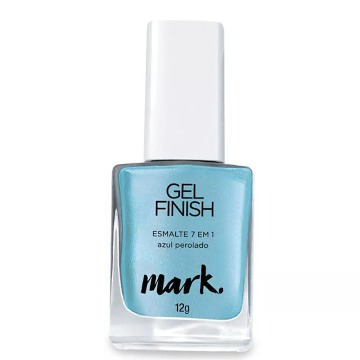 Mark Esmalte Gel Finish Azul Perolado