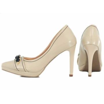 Sapato Scarpin Creme 856005