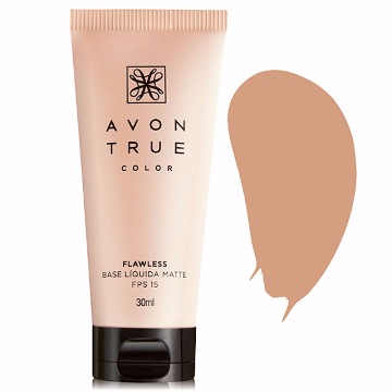 Avon True Color Base Líquida Matte Bege Médio - 30ml