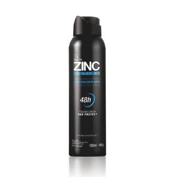 Desodorante Masculino Aerossol ZINC Action, 150ml/90g