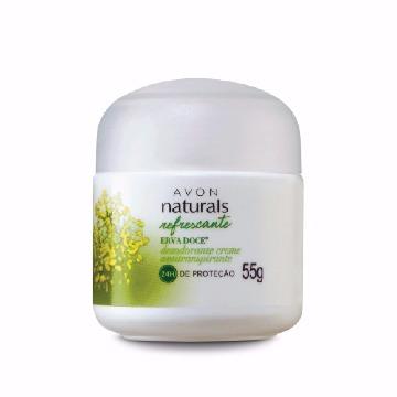 Desodorante Creme Avon Naturals Erva Doce