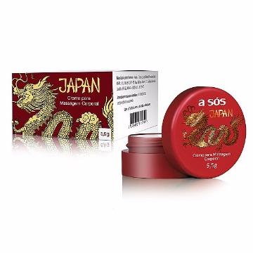 Creme Térmico e Excitante Japan Unissex - Pote 5,5g