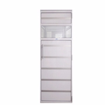 Porta de Policarbonato c/ estrutura Aluminio Branco 0.57 X 1.90 - Sodramar