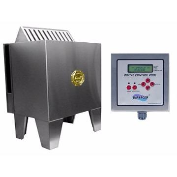 Sauna 18 Kw Inox Trifasico 220 Quadro Digital - Impercap