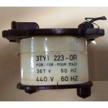 3TY1 223-0Q/0R BOBINA 440V 60Hz PARA CONTATOR 3TA22 E 3TA13 (3TY1223-0Q/0R)SIEMENS 0719