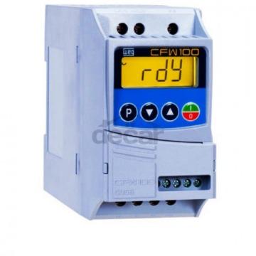 Inversor de frequência CFW100 Tensão Monofásica de alimentação 200-240V 4,2A 0,75 KW 1CV CFW100C04P2S220
