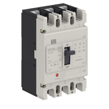 DWP250L-150-3 DISJUNTOR 3P 150A 20KA 380/400V 14256834 WEG