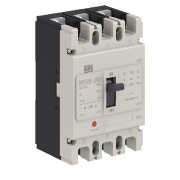 DWP250L-250-3 DISJUNTOR 3P 250A 20KA 380/400V  Produto: 14256839 WEG