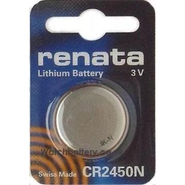 BATERIA DE LÍTIO Importada Para IHM e CLP - 3V / 540mAh ; Ø24x5mm; - CR2450N - RENATA BATTERIES