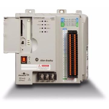 PLC Controlador Programável CompactLogix - 0,5Mb - 16/16 I/O Vdc - 2 Eth/IP USB até 08 Cartões I/O 1769 - 1769L18ERBB1B - Allen Bradley