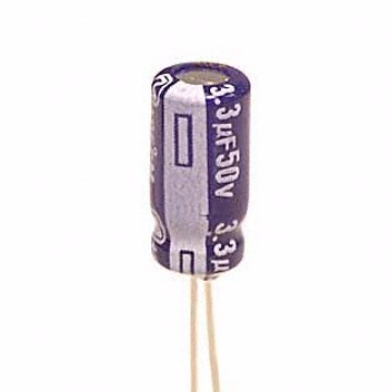 Cap Eletrolitico Importado 3,3uF - 50V 5x11 Radial - Panasonic