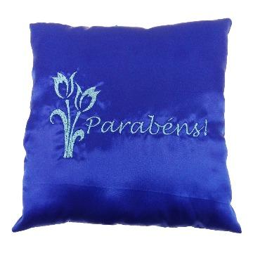Almofada Personalizada Parabéns Flor Azul