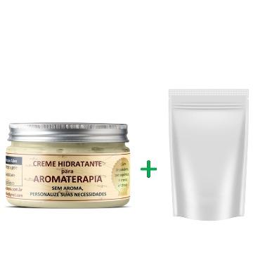 Combo Creme hidratante natural para aromaterapia 100 ml + REFIL