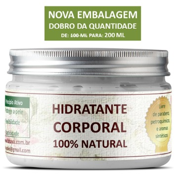 Hidratante corporal natural 200 ml