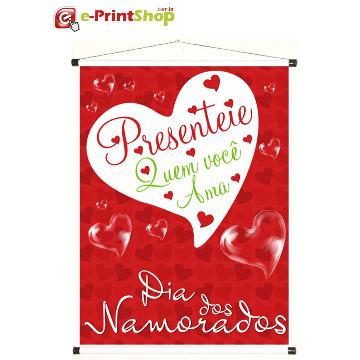 Banner Dia dos Namorados - 100 x 140 cm - 1 unidade