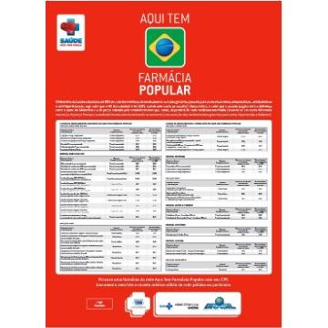Novo Cartaz Farmácia Popular do seu Estado - 2 unidades