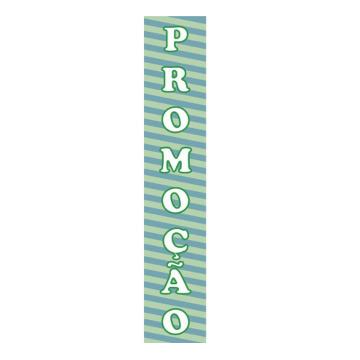KIT para Vitrines ´PROMOÇÃO´ - 4 Faixas em Vinil autoadesivo - 104 x 20 cm - Cor: Verde