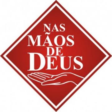 Nas Mãos de Deus - Vermelho - 39 unid. (10x10cm) Vinil Autoadesivo