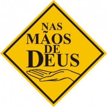 Nas Mãos de Deus - Amarelo - 18 unid. (14x14cm) Vinil Autoadesivo