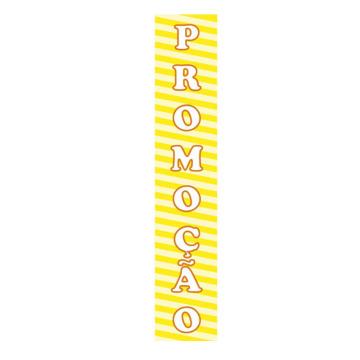 KIT para Vitrines ´PROMOÇÃO´ - 4 Faixas em Vinil autoadesivo - 104 x 20 cm - Cor: Amarelo