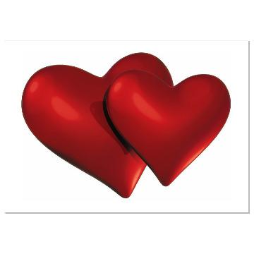 Coração Duplo p/ Decoração (Vinil Autoadesivo).