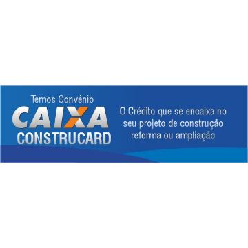 CONSTRUCARD ® - 6 Faixas em Lona com Ilhós. ( Tamanho: 46 cm x 140 cm)