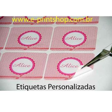 Etiquetas em PAPEL Adesivo -  com meio-corte personalizado